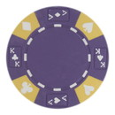 Brybelly Roll of 25 - Purple - Ace King Suited 14 Gram Poker Chips