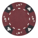 Brybelly Roll of 25 - Red - Ace King Suited 14 Gram Poker Chips