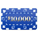 Brybelly 5 Denominated Poker Plaques Blue $10,000