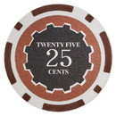 Brybelly Roll of 25 - Eclipse 14 Gram Poker Chips - .25¢ (cent)
