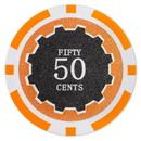 Brybelly Roll of 25 - Eclipse 14 Gram Poker Chips - .50¢ (cent)
