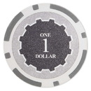 Brybelly Roll of 25 - Eclipse 14 Gram Poker Chips - $1