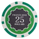 Brybelly Roll of 25 - Eclipse 14 Gram Poker Chips - $25