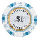 Brybelly Roll of 25 - $1 Monte Carlo 14 Gram Poker Chips