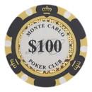 Brybelly Roll of 25 - $100 Monte Carlo 14 Gram Poker Chips