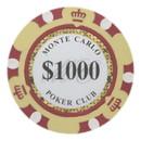 Brybelly Roll of 25 - $1000 Monte Carlo 14 Gram Poker Chips