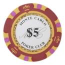 Brybelly Roll of 25 - $5 Monte Carlo 14 Gram Poker Chips