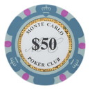 Brybelly Roll of 25 - $50 Monte Carlo 14 Gram Poker Chips