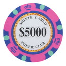 Brybelly Roll of 25 - $5,000 Monte Carlo 14 Gram Poker Chips