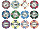 Brybelly Milano 10 Gram Clay Poker Chip Sample Pack - 12 Chips