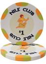 Brybelly Roll of 25 - $1 Nile Club 10 Gram Ceramic Poker Chip