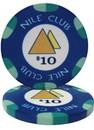 Brybelly Roll of 25 - $10 Nile Club 10 Gram Ceramic Poker Chip
