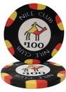 Brybelly Roll of 25 - $100 Nile Club 10 Gram Ceramic Poker Chip