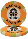 Brybelly Roll of 25 - $1000 Nile Club 10 Gram Ceramic Poker Chip