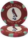 Brybelly Roll of 25 - $2 Nile Club 10 Gram Ceramic Poker Chip