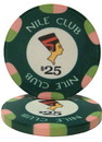 Brybelly Roll of 25 - $25 Nile Club 10 Gram Ceramic Poker Chip
