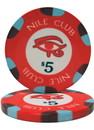 Brybelly Roll of 25 - $5 Nile Club 10 Gram Ceramic Poker Chip