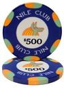 Brybelly Roll of 25 - $500 Nile Club 10 Gram Ceramic Poker Chip