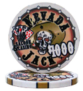 Brybelly Roll of 25 - $1000 Nevada Jack 10 Gram Ceramic Poker Chip