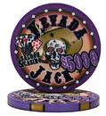 Brybelly Roll of 25 - $5000 Nevada Jack 10 Gram Ceramic Poker Chip