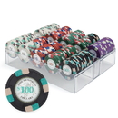 Brybelly 200ct Claysmith Gaming Poker Knights Chip Set in Acrylic