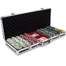 Brybelly 500ct Claysmith Gaming Poker Knights Chip Set in Black Alum