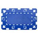 Brybelly 5 Blue Rectangular Poker Chips