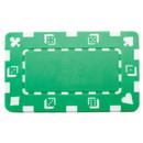 Brybelly 5 Green Rectangular Poker Chips