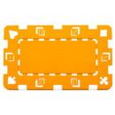 Brybelly 5 Orange Rectangular Poker Chips