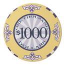 Brybelly Roll of 25 - $1000 Scroll 10 Gram Ceramic Poker Chip