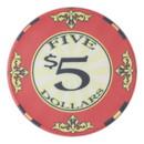 Brybelly Roll of 25 - $5 Scroll 10 Gram Ceramic Poker Chip