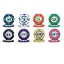 Brybelly Scroll 10 Gram Ceramic Poker Chip Sample Pack - 8 Chips