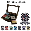 Brybelly 300 Ct Pre-Packaged Ace Casino 14 Gram Chips - Walnut