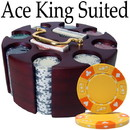 Brybelly Custom - 200 Ct Ace King Suited Chip Set Wooden Carousel