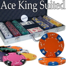 Brybelly Custom - 300 Ct Ace King Suited Chip Set Aluminum Case