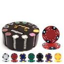 Brybelly 300 Ct - Custom - Ace King Suited 14 G - Wooden Carousel