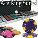 Brybelly Custom - 600 Ct Ace King Suited Chip Set Aluminum Case