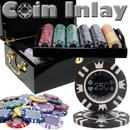Brybelly 500 Ct Mahogany Set Custom Pack - Coin Inlay 15 Gram Chips