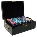 Brybelly 500 Ct Custom Breakout Eclipse 14G Poker Chip Set - Mahogany