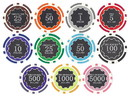 Brybelly 500 Ct Custom Breakout Eclipse 14G Poker Chip Set - Walnut