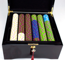 Brybelly 750Ct Claysmith Gaming 'The Mint' Chip Set in Black Mahogany