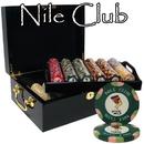 Brybelly 500 Ct Custom Breakout Nile Club Chip Set - Mahogany Case