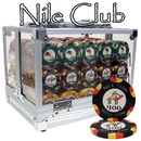 Brybelly 600 Ct Standard Breakout Nile Club Chip Set - Acrylic Case