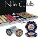 Brybelly 750 Ct Custom Breakout Nile Club Chip Set - Aluminum Case