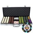 Brybelly 500Ct Custom Claysmith Gaming 'Rock & Roll' in Aluminum