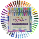 Brybelly Silk 1mm Smooth Gel Pens, 48-pack