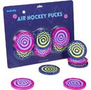 Brybelly Six-Pack Vivid Air Hockey Pucks, 3.25