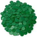 Brybelly Solid Green Bingo Chips, 300-pack