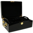 Brybelly 500 Ct Black Mahogany Wooden Case