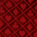 Brybelly 10' Section of Red Two-Tone Poker Table Speed Cloth